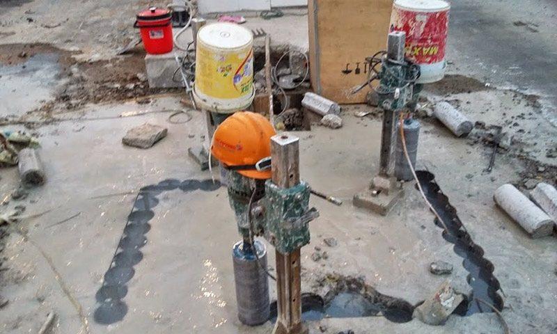 Dịch vụ khoan rút lõi bê tông tại Bàu Bàng Bình Dương