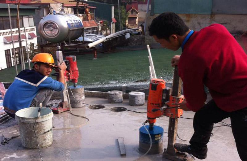 Dịch vụ khoan rút lõi bê tông tại Phú Giáo Bình Dương
