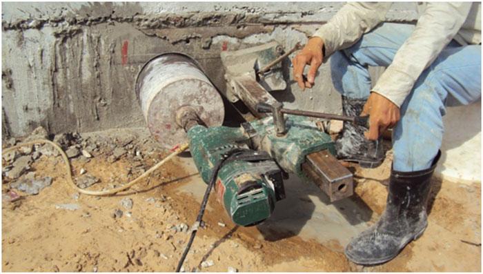 Khoan cắt bê tông là kỹ thuật tác động phá vỡ khối bê tông