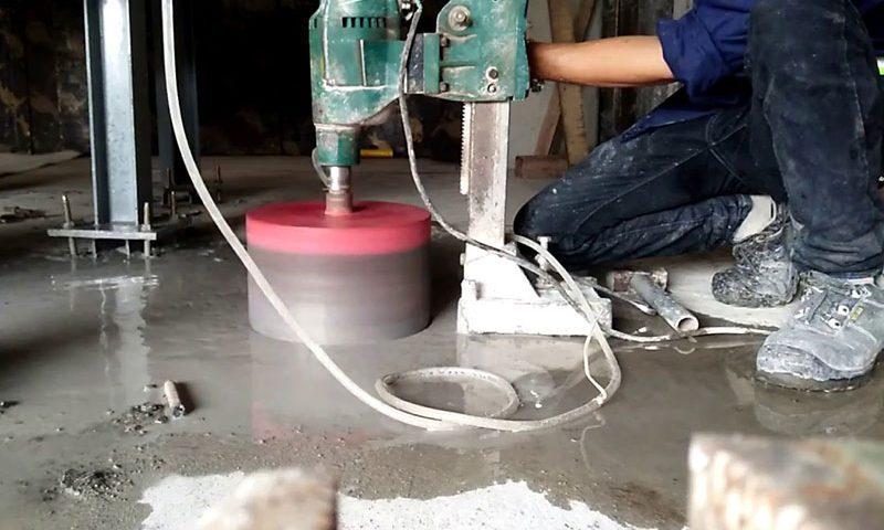 Khoan rút lõi bê tông chuyên nghiệp chất lượng tại Tân Uyên Bình Dương