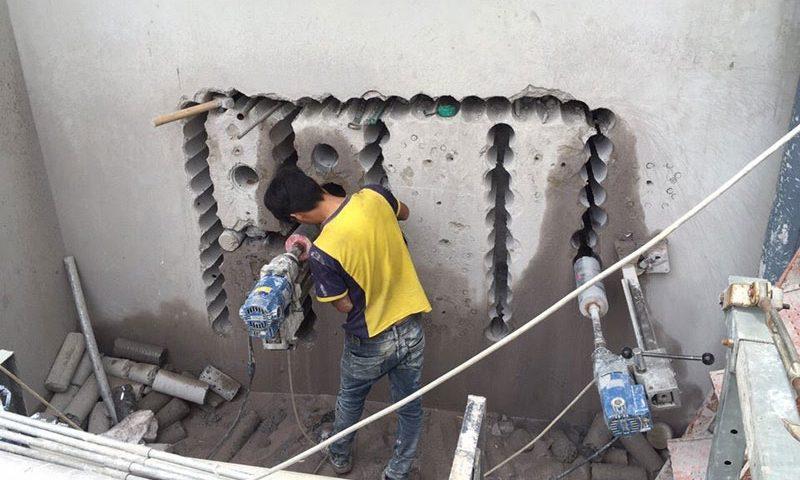 Khoan rút lõi bê tông chuyên nghiệp chất lượng tại Thủ Dầu Một Bình Dương