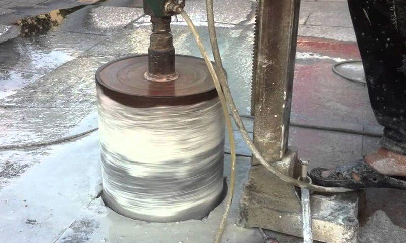Khoan rút lõi bê tông chuyên nghiệp chất lượng tại Thuận An Bình Dương