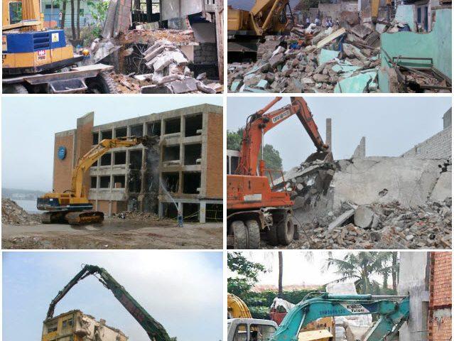 Phá dỡ nhà cũ giải phóng mặt bằng xây dựng